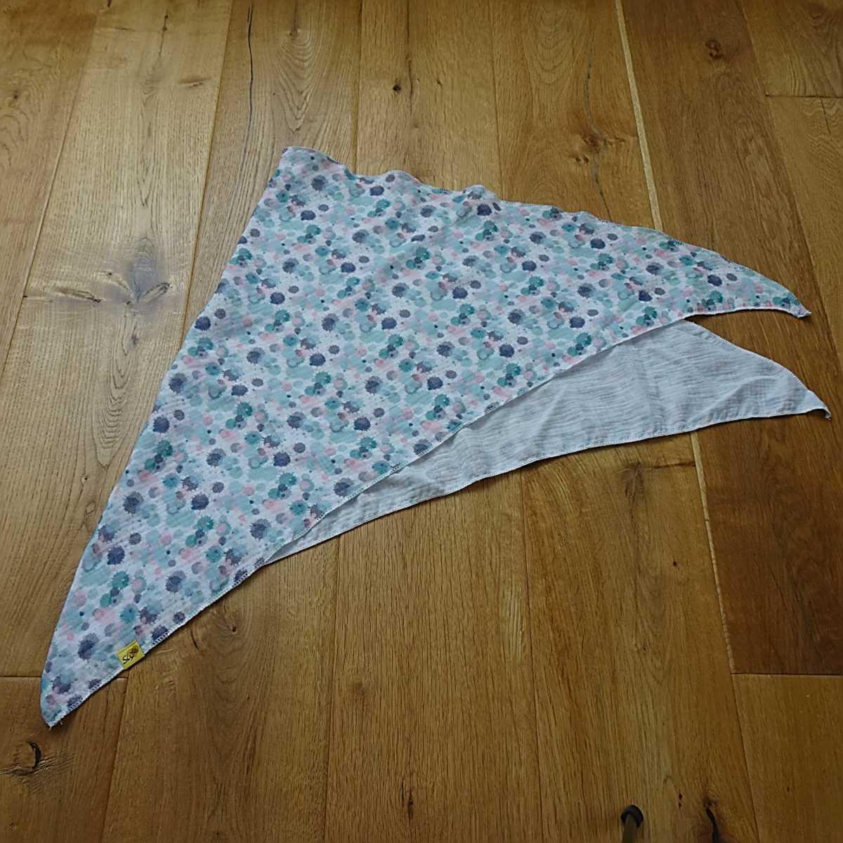 """kuscheliges Halstuch oder Stilltuch für Erwachsene 100x100cm mit Muster """"Splash"""""""