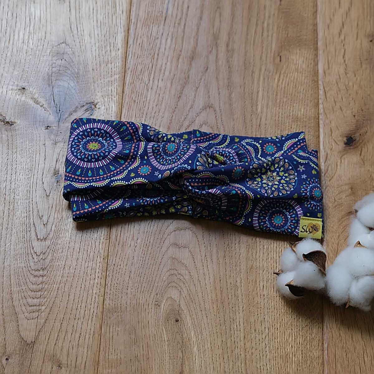 "Turban-Knoten-Haarband mit Muster ""Mandalas"""