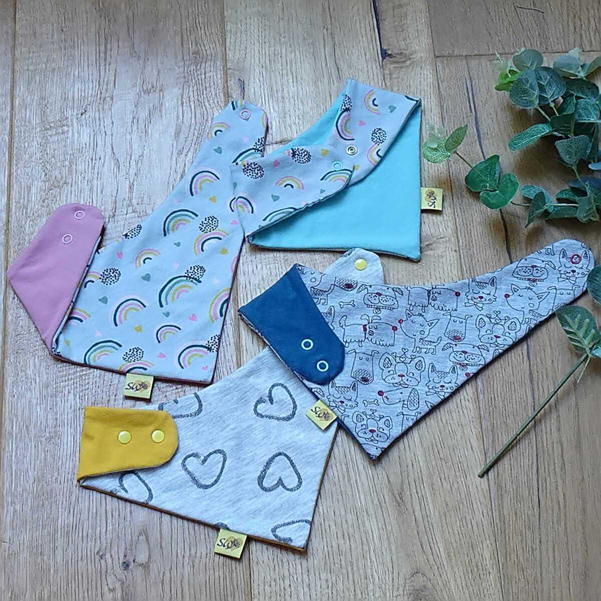 Baby-Wende-Dreieckstuch-Übersicht